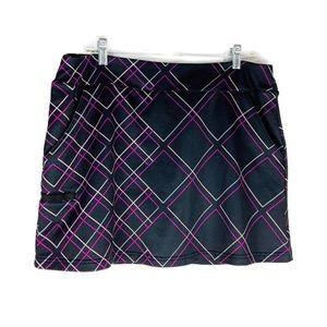 Adidas Purple & Black Golf Skort Size Large GUC